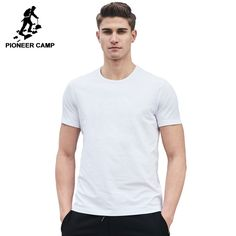 Now available on our store! Pioneer Camp Plai... Check it out here! =) http://themanandmore.com/products/pioneer-camp-plain-cotton-o-neck-short-sleeve?utm_campaign=social_autopilot&utm_source=pin&utm_medium=pin
