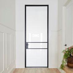 The Block 2017. Elegant and timeless, a steel door was a the door is made by Steel Window Design.