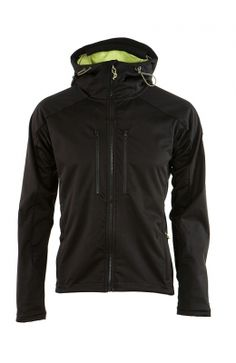 Softshell jacket by Cintamani - Men - Hallþór  B3 Softshell Air® from Lanificio Bacagli®. Very technical and fun jacket. The outer surface of the jacket is coated with teflon that is water and dirt resistant. Very stretchable fabric, the outer surface can be stretched in six different directions. Dries out quicly if it gets wet. UVA proteciton. The fabric on the inside guarantees good breathability as well as warmth. High collar. Two zipped pockets in the front. Adjustable strap in the hood.
