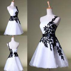 Fashoin Lace One Should Sleeveless Scoop Homecoming Dresses Short Mini Prom Dress