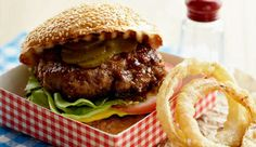 All-American burger #recipe. A classic beef burger with all the right trimmings.