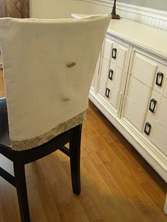 diy chair back covers...I love these