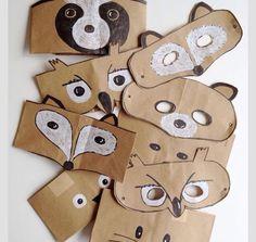 brown paper masks. Máscaras