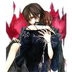 Vampire Knight Kaname and Yuki ❤ liked on Polyvore featuring anime, vampire knight and backgrounds