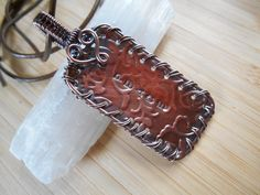 Copper Embossed Stamped Peace Oxidized Copper by OurFrontYard, $19.77