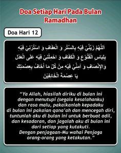 Doa hari 12 Ramadhan Dua For Ramadan, Ramadhan Quotes, Self Reminder, Doa, Allah, Religion, Blessed, Spirituality, Blessings