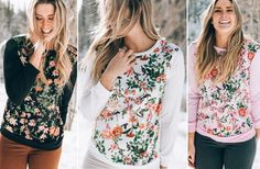 Love the sleeve length on these cute floral tee's! Perfect for spring and only $15.99!