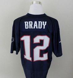 Team Apparel Vintage New England Patriots Tom Brady  12 Football Jersey NFL  L Team Apparel bf8622c9e