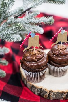 Anniversary Plaid Lumberjack Cupcake Decoration Picks 16th Birthday 12ct