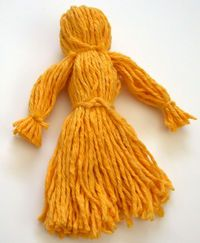 Make yarn dolls and decorate them with felt clothing to make them look like the Girl Guides/ Girl Scouts of the Thinking Day countries!