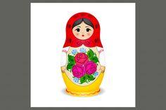 Russian dolls - matryoshka by samarka on @creativemarket