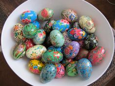 Hand painted eggs!
