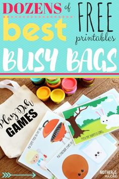 Free Busy Bag Ideas and Printables plus Airplane Activities for Kids on Frugal Coupon Living.