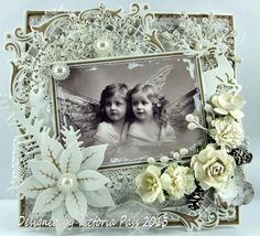 Sticky With Icky: Vintage Angel ...what an awesome vintage looking card!!!