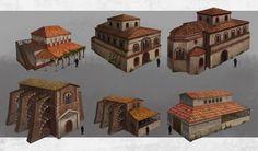 Fantasy City, Fantasy Map, Buildings Artwork, Fall Of Constantinople, Roman City, Roman Architecture, Hagia Sophia, Byzantine, Middle Ages