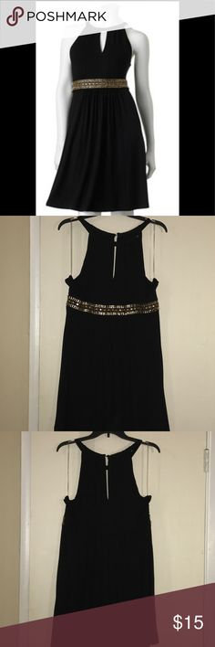 Apt 9 Keyhole Embellished Dress Super cute and comfortable dress! The material is stretchy and paired with some pumps it is adorbs! I wore it once to my husband's graduation, it is like new 🚺❤️  Perfect little black dress! Apt. 9 Dresses Mini