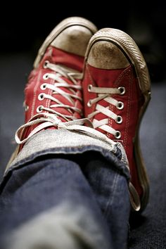 I just adore my red converse sneakers.Looks like these ones have done some walking! Chuck Taylors, Converse All Star, Red Chucks, Converse Sneakers, Red Sneakers, Red Keds, Cheap Converse, Digital Photography School, Photography Challenge
