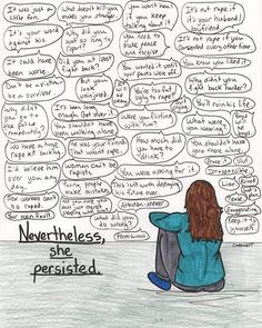 #ShePersisted, rape and sexual assault survivor version. According to RAINN, in the United States, 1 out of 6 women and 1 out of 33 men has or will be a victim of a rape or attempted rape in their lifetime, and many assaults are unreported due to threats and victim blaming. People of college age (18-24) are at an elevated risk, with 11.2% of all students experiencing a rape or assault. 7 out of 10 rapes are committed by someone known to the victim. For more information, visit…
