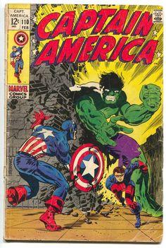 Captain America 110 Marvel 1969 GD Hulk Bucky Jim Steranko Stan Lee