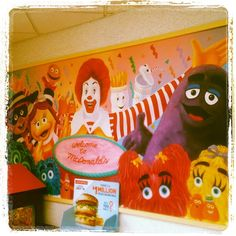 Photos of the McDonaldland Wall Murals! Shared, in order, with captions, by: Welcome to McDonald's wall mural in New Jersey featuring several McDonaldland characters, posted by Kevin Hagan in. Puppet Toys, Cereal Boxes, Child Life, My Children, Wall Murals, Ronald Mcdonald, Nostalgia, Childhood, Wall Decor