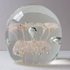 Vintage Art Glass Paperweight by VintageHarvey on Etsy