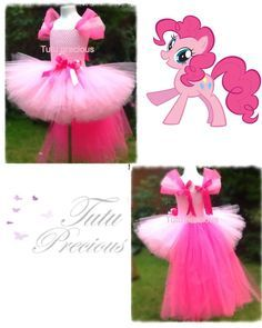 Pinky Pie My Little Pony Inspired tutu dress - dressing up costume in Clothes, Shoes & Accessories, Fancy Dress & Period Costume, Fancy Dress | eBay