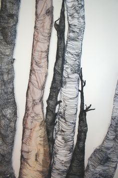 Ideas Nature Inspired Textiles Fiber Art For 2019 Art Fibres Textiles, Textile Fiber Art, Textile Artists, Thread Painting, A Level Art, Fabric Art, Fabric Drawing, Hanging Fabric, Paper Drawing
