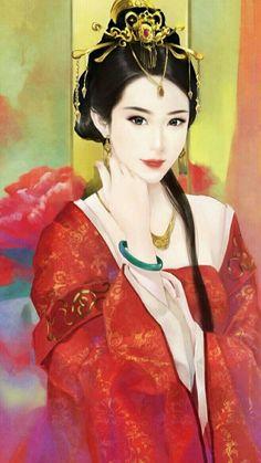 Ancient Beauty, Ancient Art, Chinese Culture, Chinese Art, Anime Fantasy, Fantasy Art, Art Of Beauty, Beauty Women, Samurai Artwork