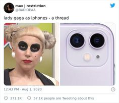 Person Compares Lady Gaga's Looks To iPhone Cases And It Looks Like He's Onto Something Lady Gaga Memes, Black Eye Makeup, Some Funny Jokes, Funny Puns, Little Memes, Famous Singers, Womens Fashion Casual Summer, Florida Woman, New Memes
