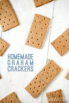 Homemade Graham Crackers Recipe by Sweet2EatBaking.com - Never buy Graham Crackers again with this quick and simple Homemade Graham Crackers recipe. Can be enjoyed alone, used in desserts for an amazing S'mores, or crumbled up to make cheesecakes, bars, or pies.