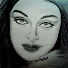 """"" Aishwarya Rai Bachchan"""" #Creative #Art in #sketching @Touchtalent"