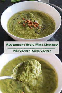 Delicious and flavoful mint chutney tastes great with both idli and dosa varieties. #mintchutney #greenchutney #indianchutney Indian Breakfast, Breakfast Menu, Breakfast Items, Chutney Varieties, Green Chutney, Coconut Chutney, Delicious Restaurant, Fusion Food, Chutney Recipes