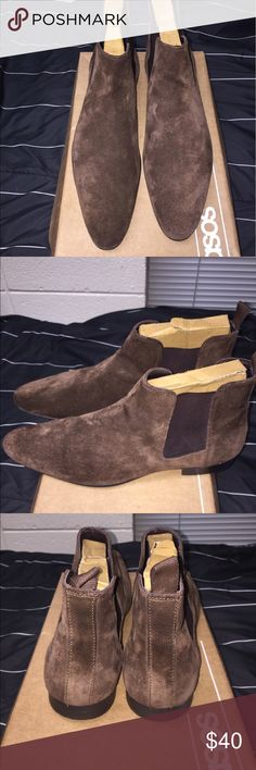 ASOS Brown Suede Chelsea Boots (Men) Brown Suede ASOS Chelsea Boots size 11.5. Will fit a size 12-13 pretty well. Great condition. ASOS Shoes Boots