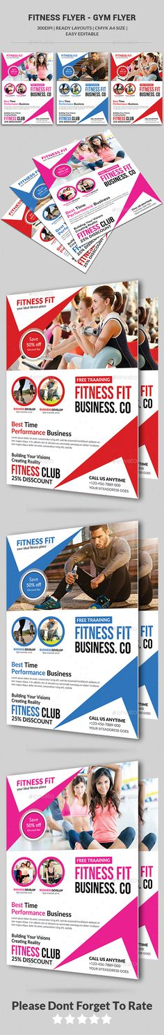 #Fitness Flyer - Gym Flyer - Corporate Flyers Download here: https://graphicriver.net/item/fitness-flyer-gym-flyer/15853934?ref=alena994