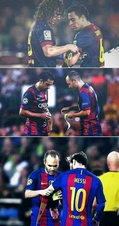 FC BARCELONA LEGACY Carles Puyol Xavi Hernández Andrés Iniesta Lionel Messi I love you so so sooo much! You are one of the Best Players Eber! Thank you so nach! You are always in my hart ❤ Barcelona Team, Barcelona Football, Barcelona Futbol Club, Xavi Barcelona, Club Football, Football Is Life, World Football, Messi Soccer, Football Memes