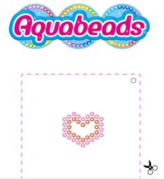 Aquabeads Heart Template