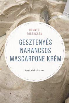 gesztenyes-narancsos-mascarpone-krem Poppy Cake, Salty Snacks, Hungarian Recipes, Cake Tutorial, Trifle, Sweet Life, Recipe Collection, Cake Cookies, Cake Recipes