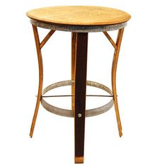 Classic Party Rentals, Bartoli Bistro Table made with wine barrel staves