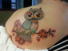 my owl tattoo ... it turned out amazing!!! State Street Tattoo, Kennett Square, PA by Demian Rivera.