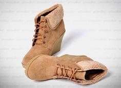 Fleece Trim Ankle Boots