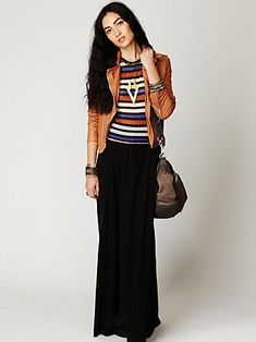 long skirt with jacket