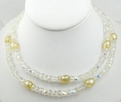 Alice Caviness Crystal & Pearl Necklace - Garden Party Collection Vintage Jewelry