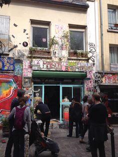 Quartier de Belleville , rue Dénoyez, Paris
