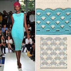 Crochet graph stitch pattern