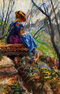 Early Spring (Vorfrühling) - 1917 | Ferdinand Max Bredt, German, 1868-1921