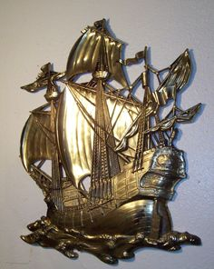 Awesome Vintage Homco 3663 Sailing Pirate Clipper Ship - HUGE! My aunt and uncle had this in their house!  LOVE LOVE!  :)