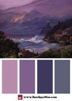 Wave Color Palette: Sunset Fog, Art Print by Michael Humphries
