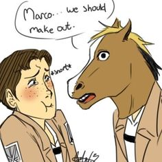 "Attack on Titan ~~ ""Marco, we should make out."" :: What if that is NOT Jean?"