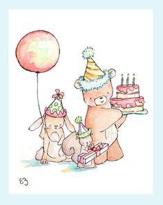 .happy birthday - illustration