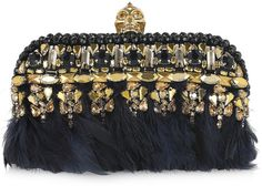 ALEXANDER MCQUEEN Punk Embellished Leather Box Clutch